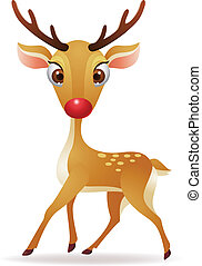 Red nose deer  - Vector illustration of Red nose deer