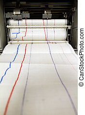 Monitoring printer - Paper comes out of an printing...