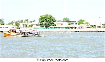 boat in Choaphya river, Bangkok, Thailand