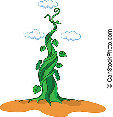 Beanstalk  - Vector illustration of Beanstalk