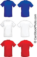 T-shirt design templates (front & back)