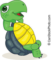 Turtle relaxing - Vector illustration of Turtle relaxing
