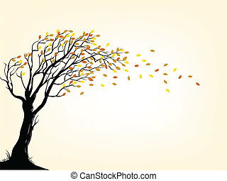 Autumn tree - Vector Illustration of Autumn tree