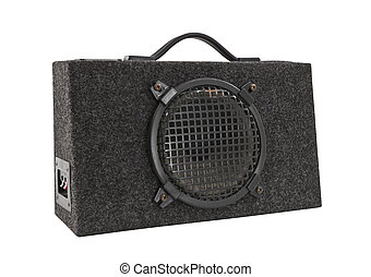 Old Car Audio Boom Box Woofer Isolated - Old car audio boom...