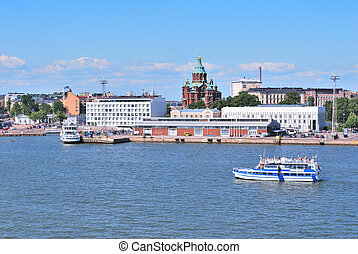 Helsinki. View from the sea - Helsinki. View of Katajanokka...
