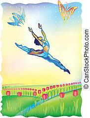I follow the sun (ballet dancer)
