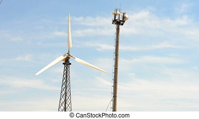Wind turbine and broadband tower