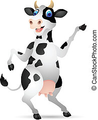 Cow cartoon - Vector Illustration of Cow cartoon