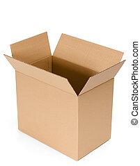 aberta, papelão, caixa