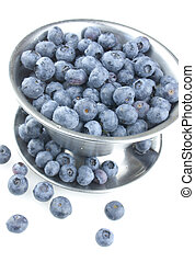 Fresh Blueberries Spilling Out