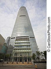 Skyscraper of an original design in Hong Kong