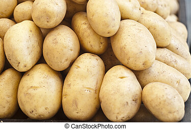 pile of new potatoes for sale