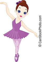 A little ballerina - Vector Illustration Of A little...