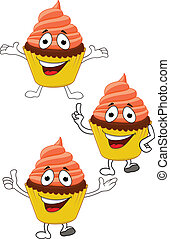 Cup cakes cartoon character
