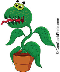 Carnivorous plant - Vector Illustration Of Carnivorous plant...