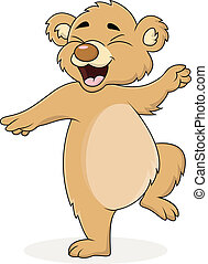 Dancing bear cartoon - Vector illustration of Dancing bear...