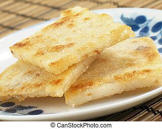 Pan-Fried Taro Cakes