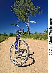 bicycle on sandy rural road