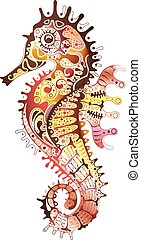 Abstract Seahorse - Illustration of abstract seahorse...