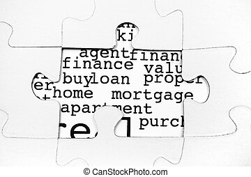 Mortgage and loan concept