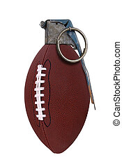 Football grenade isolated over a white background