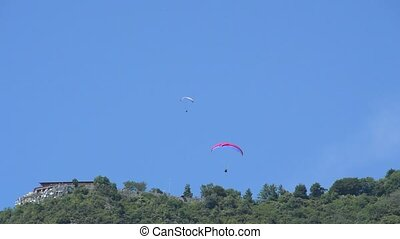 Extreme sport: paragliding