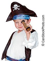 enfant, pirate, déguisement
