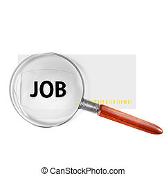 magnifying glass with the word Job
