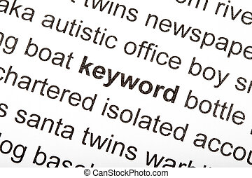 Keyword - The word keyword at the middle of other words in...