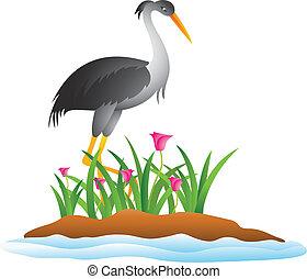 heron cartoon