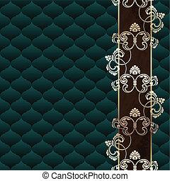 Dark green Rococo background