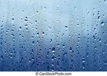 Water drops on glass - Natural water drops on glass