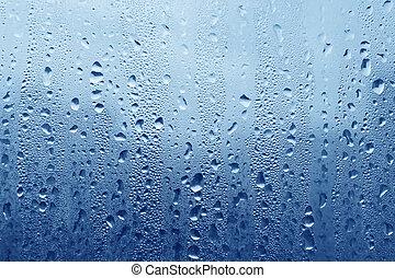 agua, vidrio, gotas