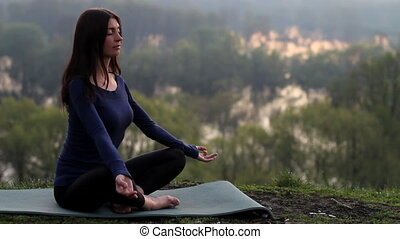 Girl, meditation, lotus