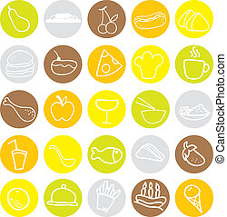 food icons for restaurant, menu, dining and others