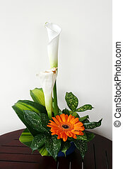 Bouquet with callas and gerbera - Fresh bouquet with callas...