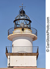 Closeup lighthouse of Cap Creus in - Closeup of lantern...