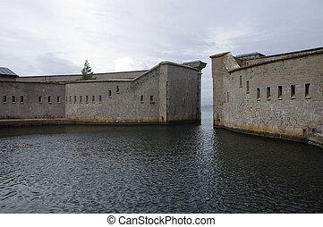 Kungsholm Fort harbor, Karlskrona, Sweden - The circular...