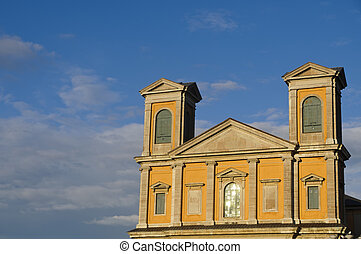 Karlskrona cathedral - The facade of Fredrich Church...