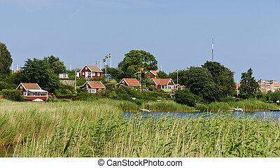 Red cottages in Brandaholm , Sweden - Swedish cottages on...
