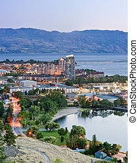 Kelowna, British Columbia - An image showing the downtown...