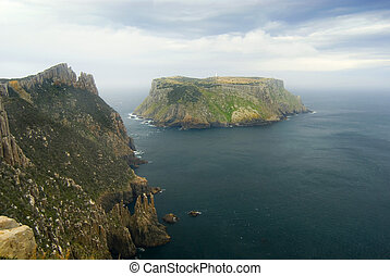 Tasman Island Cape Pillar - Tasman Island standing of the...