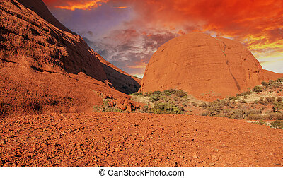Colors of Australian Outback in Winter - Australian Outback...