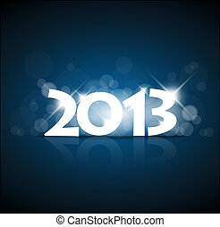 Vector New Year card 2013 with back light and place for your...
