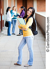 college students standing by corridor