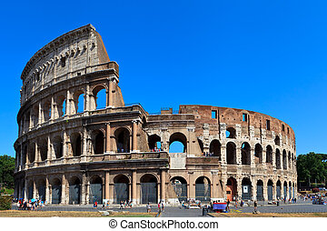 The Coliseum - View of ancient rome coliseum ruins. Italy....