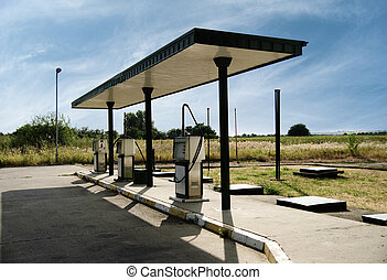 Gas Station - Gas station in rural area
