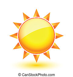 Sun icon. Illustration on white background for Web-design