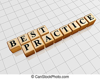 Best practice 3d golden boxes with black letters