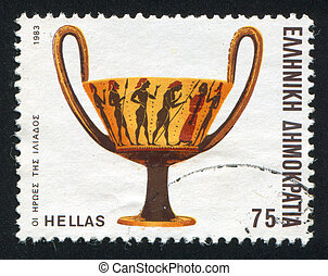heroes of the Iliad - GREECE - CIRCA 1983: stamp printed by...